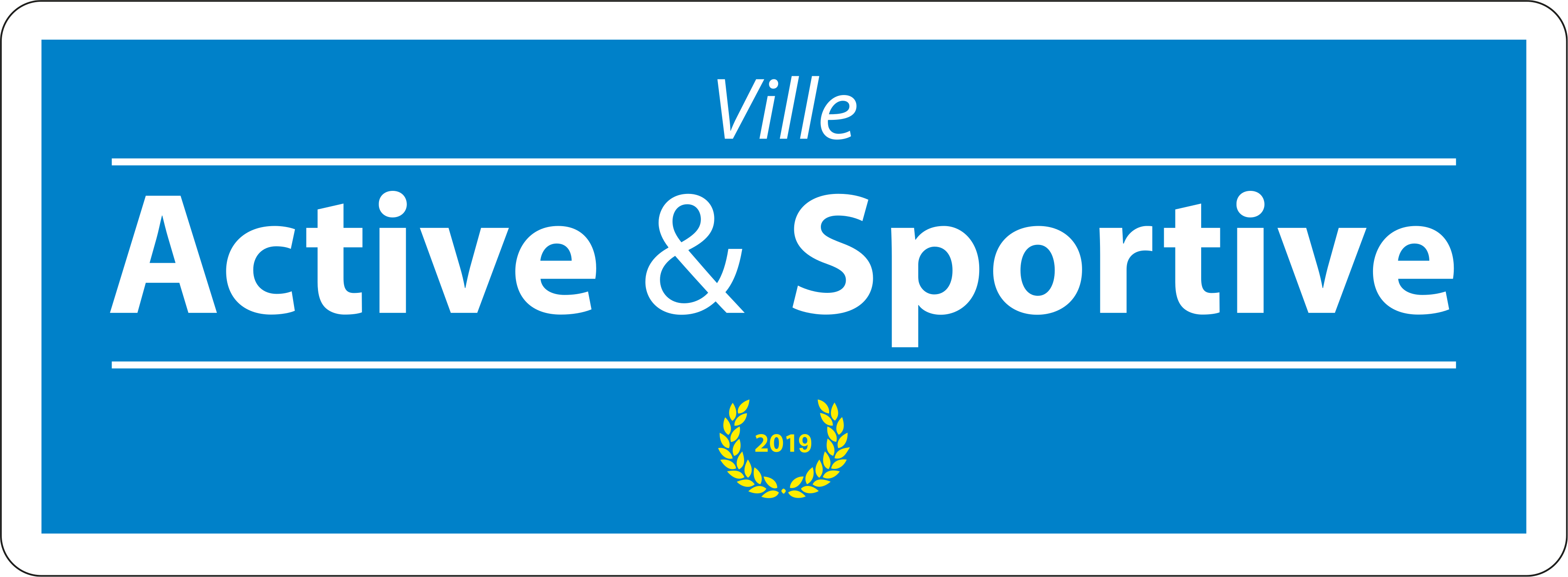 Logo Label Ville Active & Sportive - 1 Laurier